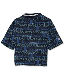 Women's Logo-Print Cropped T-Shirt