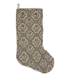 "Swirl Beaded Velvet Christmas Stocking, 8"" X 22"""