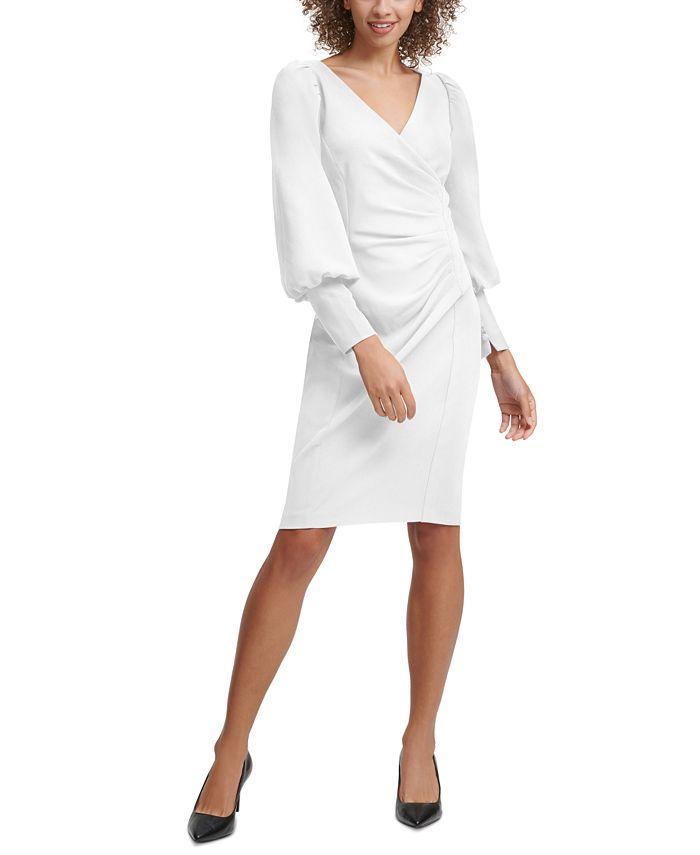 Calvin Klein - Ruched Sheath Dress