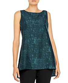 Silk Sleeveless Top, Available in Regular & Petite Sizes