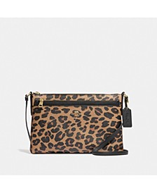 East/West Crossbody With Pop-Up Pouch With Leopard Print