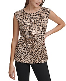 Metallic Logo Embellishment Top