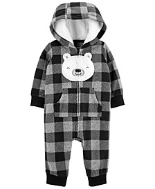 Carters Baby Boy Buffalo Check Fleece Jumpsuit