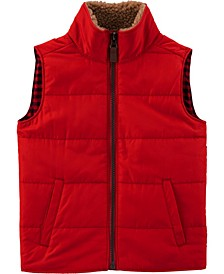 Carters Toddler Boy Zip-Up Poplin Vest