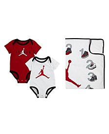 Baby Boys Bodysuit and Blanket Milestone Set
