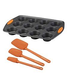 Yum-o! Bakeware Oven Lovin Nonstick 4-Pc. Muffin and Cupcake Making Set