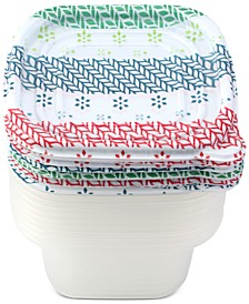 Cook with Color Holiday 20-Pc. Food Container Set