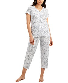 Printed Cotton Capri Pajama Set, Created for Macy's