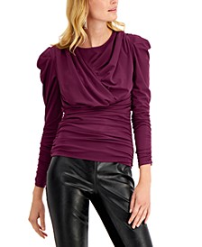 INC Ruched-Front Top, Created for Macy's