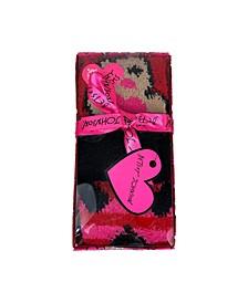 Women's Gingerbread lady Heart Cozy Sock Gift Box, 3 pack