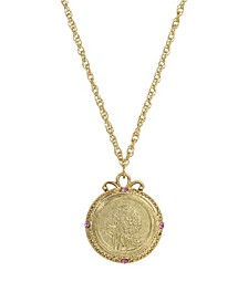 Women's Gold Tone October Flower of the Month Calendula Necklace
