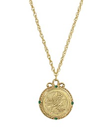 Women's Gold Tone May Flower of the Month Lily of the Valley Necklace