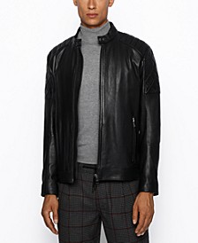 BOSS Men's Jeean 1 Slim-Fit Biker Jacket