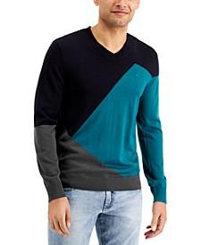 Men's Colorblocked Wool Sweater