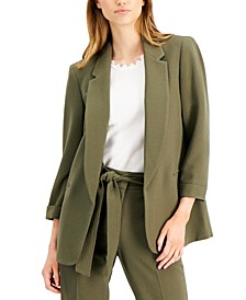 3/4-Sleeve Open-Front Blazer, Created for Macy's