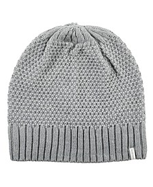 Women's Lined Water Repellent Textured Knit Beanie