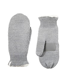 Women's Lined Water Repellent Marled Knit Mitten Gloves
