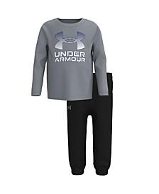 Little Boys Horizon Logo with T-shirt and Pant Set
