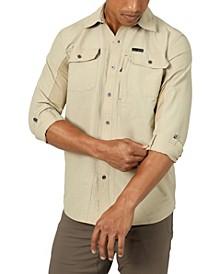 Men's Mix Material Shirt
