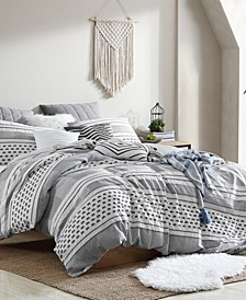 Remarkable Atayal Clip Jacquard 5 Piece Comforter Set, Full/Queen