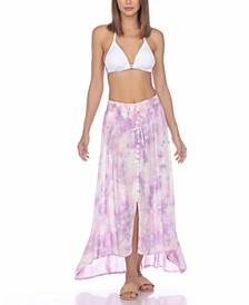 Tie-Dyed Cover-Up Skirt