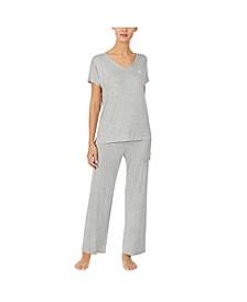 Dot-Print Pajama Set