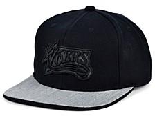 Philadelphia 76ers Hardwood Classics Black Heather Flip Snapback Cap