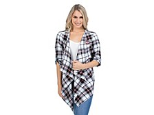 UG Apparel Ohio State Buckeyes Women's Plaid Cardigan