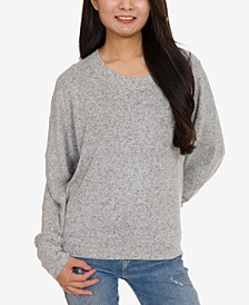 Juniors' Banded-Hem Sweatshirt