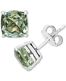 EFFY® Green Quartz Stud Earrings (4-1/2 ct. t.w.) in Sterling Silver