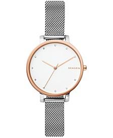 Women's Hagen Stainless Steel Mesh Bracelet Watch 34mm