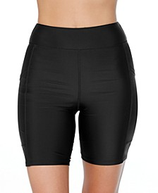 Mid-Rise Biker Swim Shorts, Created for Macys
