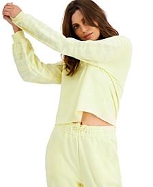 INC Zebra-Embellished-Sleeve Sweatshirt, Created for Macy's