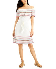 INC Crochet Off-The-Shoulder Dress, Created for Macy's
