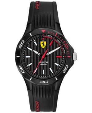 Unisex Pista Black Silicone Strap Watch 38mm