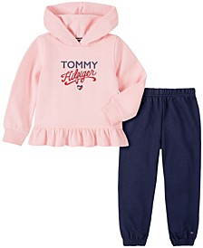 Little Girls 2 Piece Fleece Top with Pant Set