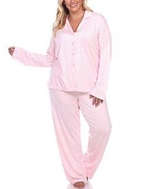 Women's Plus Size Pajama Set, 2 Piece