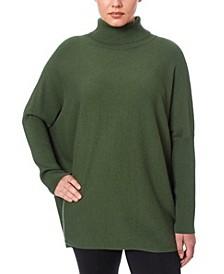 Women's Turtleneck Poncho Sweater