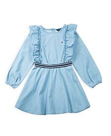 Toddler Girl's Ruffle Denim Dress