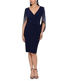 Embellished Drape-Back Dress