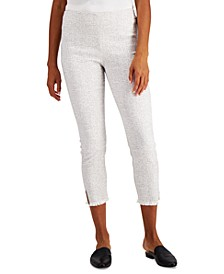 Petite Fringed-Hem Ankle Pants, Created for Macy's