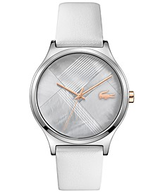 Women's Gray Leather Strap Watch 38mm