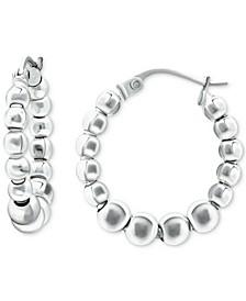 "Small Beaded Hoop Earrings, 0.75"", Created for Macy's"