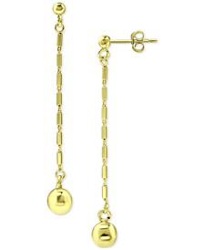 Chain & Bead Linear Drop Earrings, Created for Macy's
