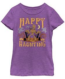 Big Girls Marvel Happy Haunting Groot Short Sleeve T-shirt