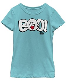 Big Girls Nintendo Boo Short Sleeve T-shirt
