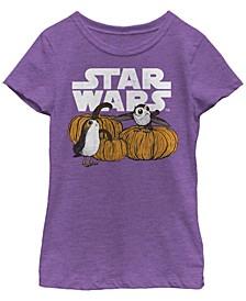 Big Girls Star Wars - Episode 8 Pumpkin Patch Porg Short Sleeve T-shirt