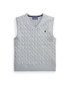 Big Boys Cable-Knit Sweater Vest