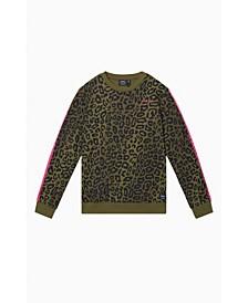 Men's Miles Stripe Leopard Camo Sweatshirt