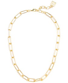"""Chain-Link Collar Necklace, 17"""" + 2"""" extender"""